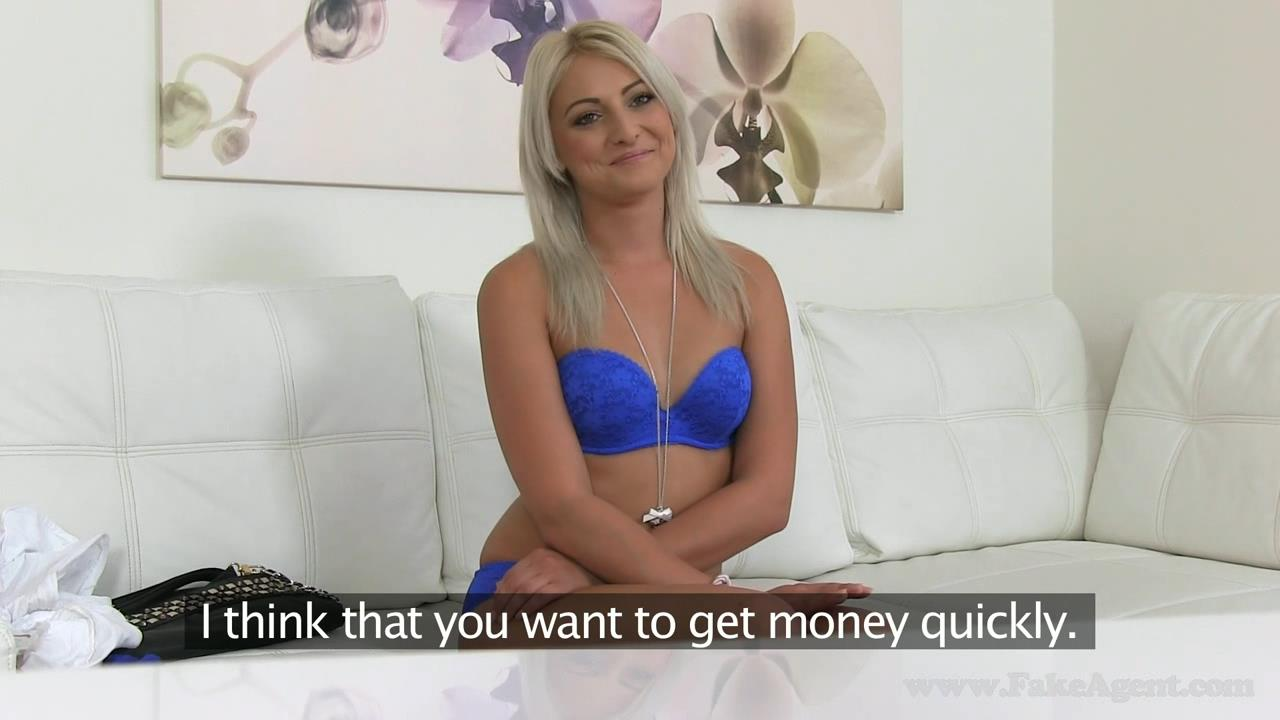 image Fakeagentuk dwarf agent gives hot slim chick a little love on casting couch