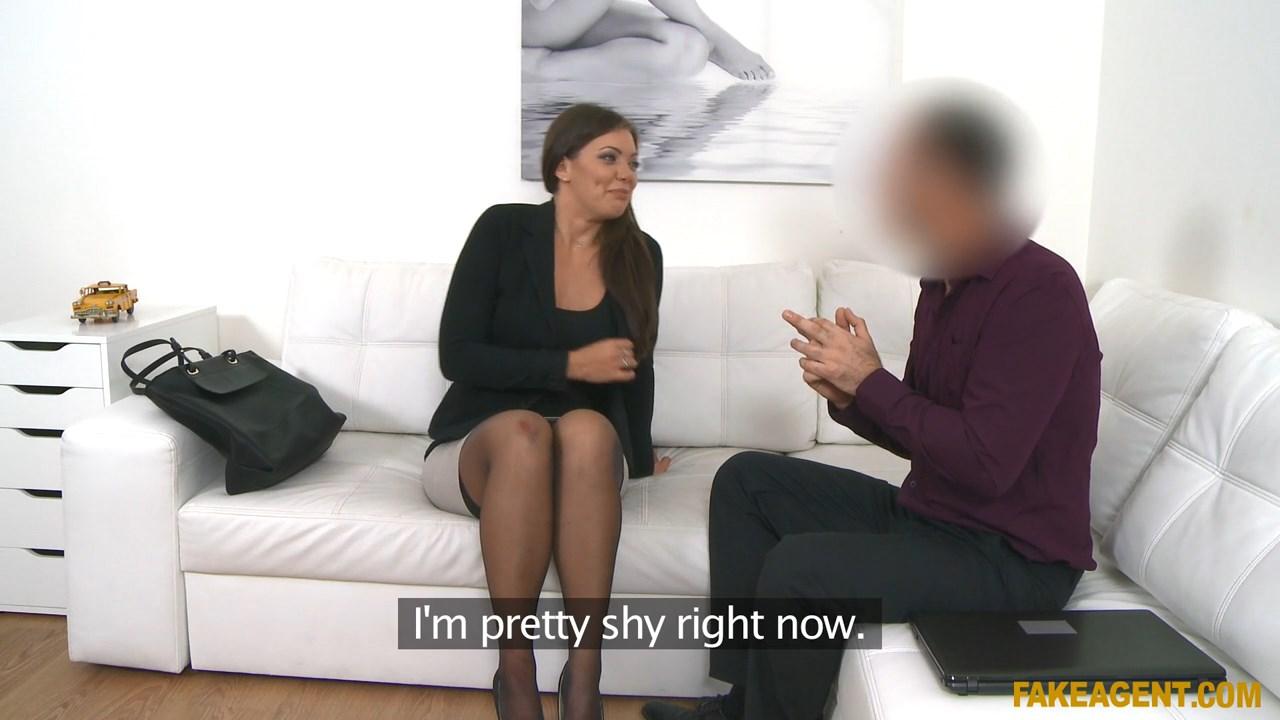 Fake Agent Natural Tits